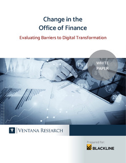 Change in the Office of Finance: Evaluating Barriers to Digital Transformation