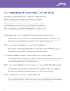 Checklist: Characteristics of a Successful DevOps Team