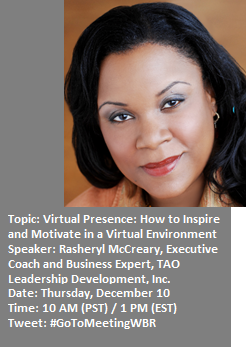 Virtual Presence: How to Inspire and Motivate in a Virtual Environment