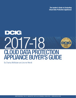 2017-18 Cloud Data Protection Appliance Buyer's Guide