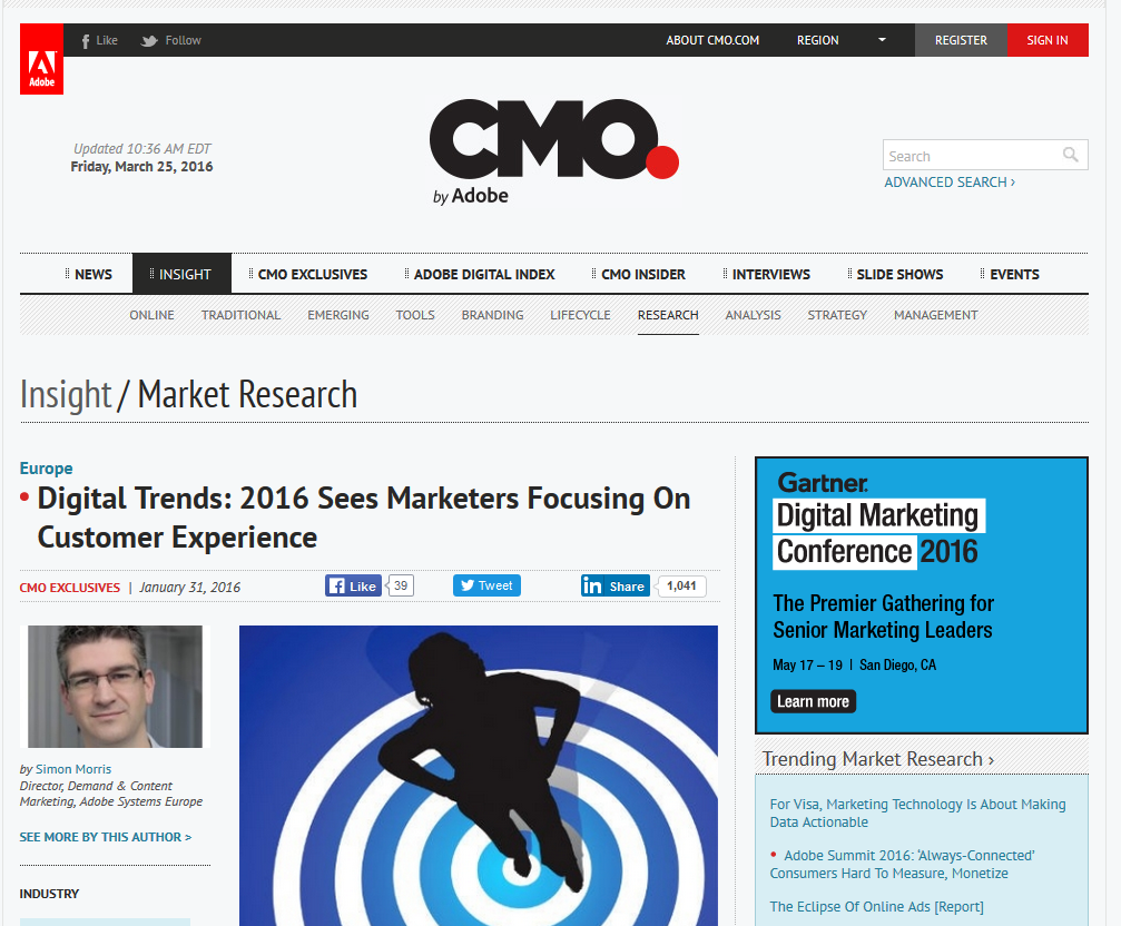 Digital Trends: 2016 Sees Marketers Focusing On Customer Experience