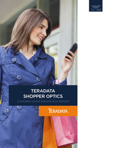 Teradata Shopper Optics, Consumer Goods Insights-As-A-Service