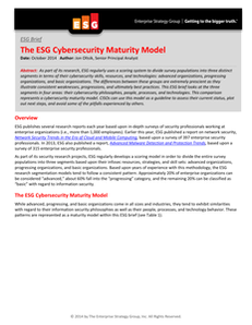 The ESG Cybersecurity Maturity Model