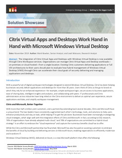 Citrix Virtual Apps and Desktops Work Hand in Hand with Microsoft Windows Virtual Desktop