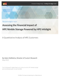 Assessing the Financial Impact of HPE Nimble Storage Powered by HPE InfoSight
