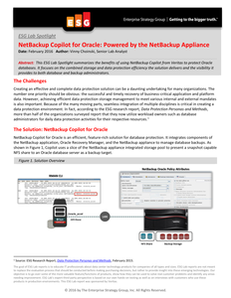 ESG Lab Spotlight: NetBackup Copilot for Oracle: Powered by the NetBackup Appliance