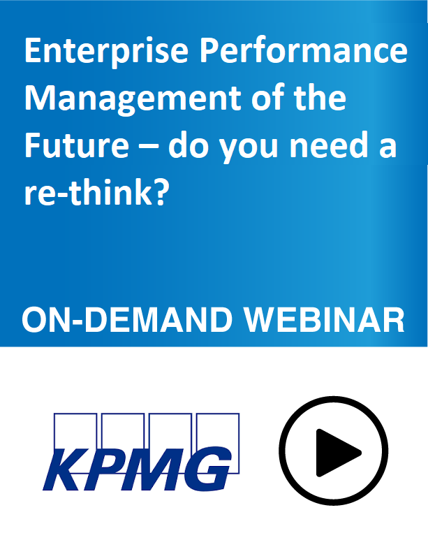 Webinar: Enterprise Performance Management of the Future – do you need a re-think?