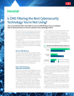 Is DNS Filtering the Best Cybersecurity Technology You're Not Using?