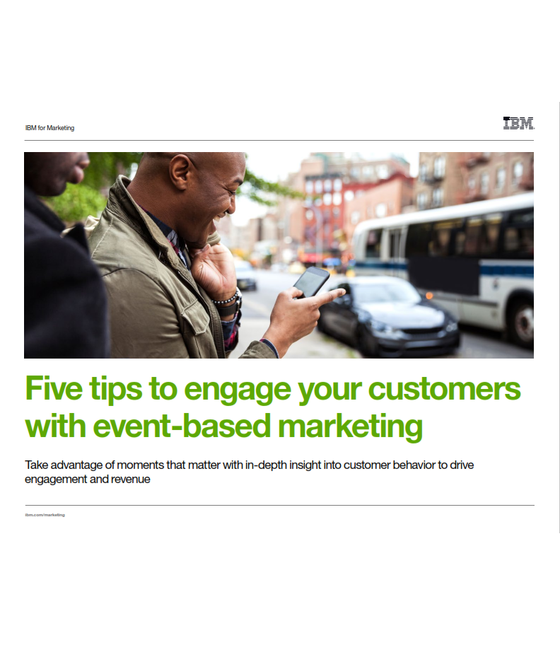 5 Tips to Engage Your Customers with Event-based Marketing