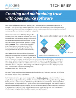 Creating and Maintaining Trust with Open Source Software