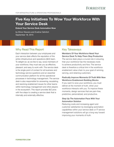 Forrester Report:  Five Key Initiatives To Wow Your Workforce With Your Service Desk