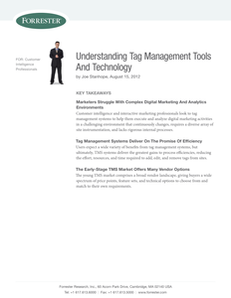 Forrester: Understanding Tag Management Tools & Technology