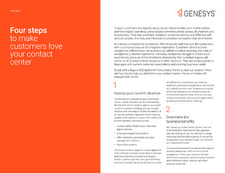 Four Steps to Make Customers Love Your Contact Center