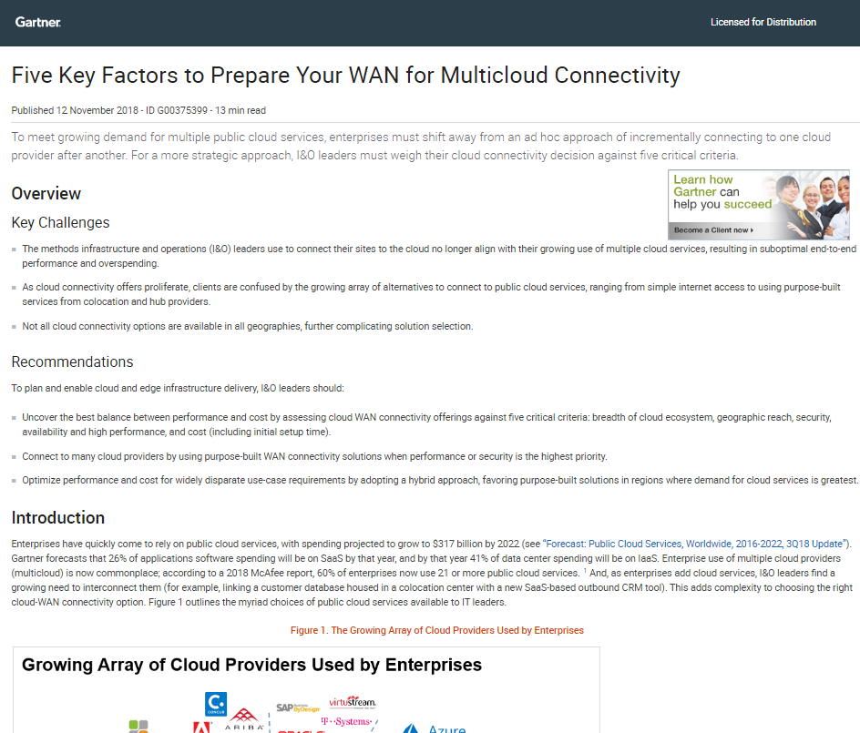Five Key Factors to Prepare Your WAN for Multicloud Connectivity