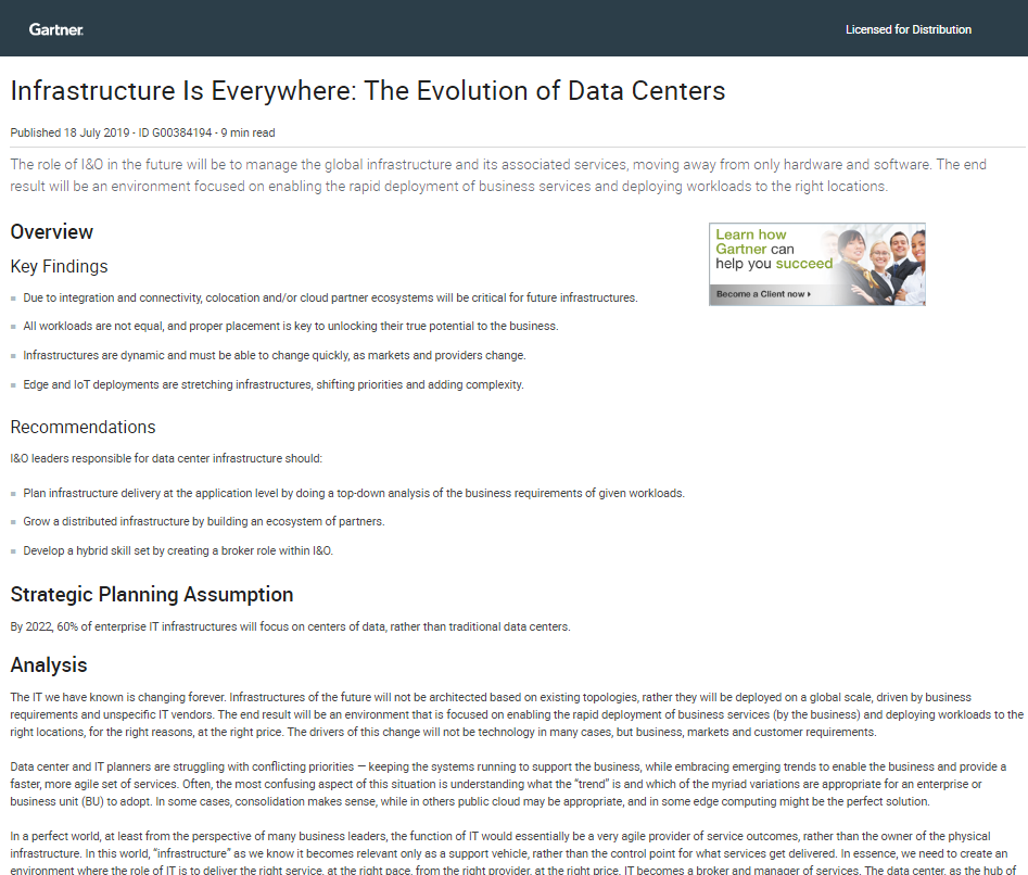 Infrastructure Is Everywhere: The Evolution of Data Centers