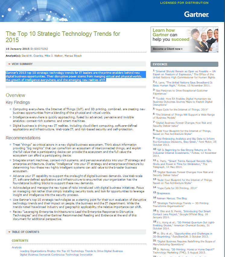 The Top 10 Strategic Technology Trends for 2015