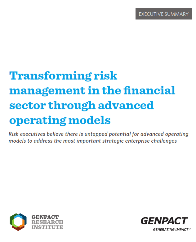 Transforming Risk Management in the Financial Sector Through Advanced Operating Models