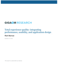 Total Experience Quality:  Integrating Performance, Usability, and Application Design