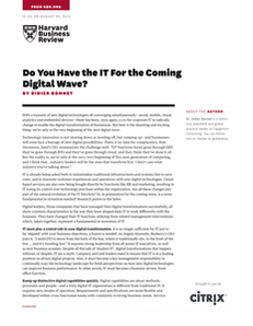 Do You Have the IT For the Coming Digital Wave?