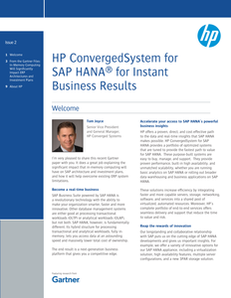 HP ConvergedSystem for SAP HANA for Instant Business Results
