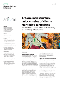 Adform Infrastructure Unlocks Value of Clients' Marketing Campaigns