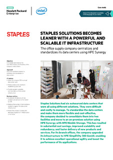 Staples Solutions Becomes Leaner with Powerful, Scalable IT Infrastructure