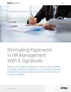 Eliminating Paperwork in HR Management With E-Signatures