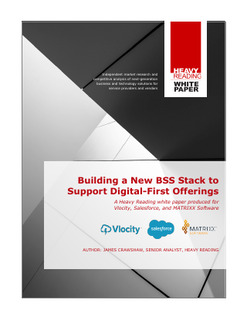 Building a New BSS Stack to Support Digital-First Offerings