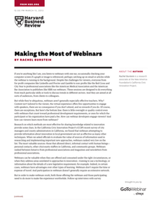Making the Most of Webinars