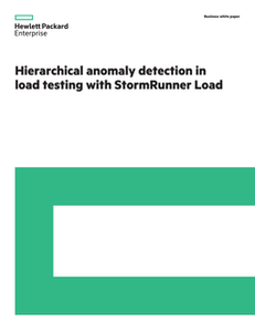 Hierarchical Anomaly Detection in Load Testing with StormRunner Load