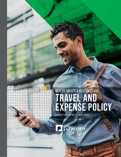 How to Create a Best-in-Class Travel and Expense Policy