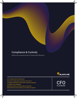 Compliance & Controls: Balancing Increasing Scope & Change with Efficiency