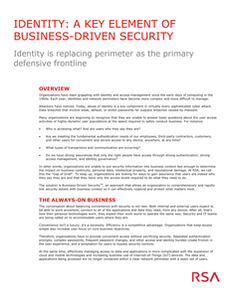 Identity: A Key Element of Business-Driven Security