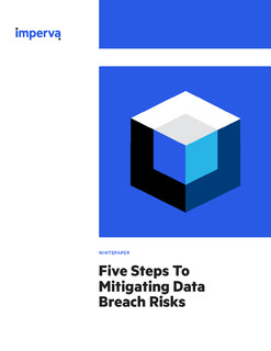 Five Steps To Mitigating Data Breach Risks