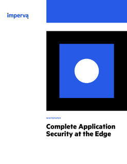 Complete Application Security at the Edge