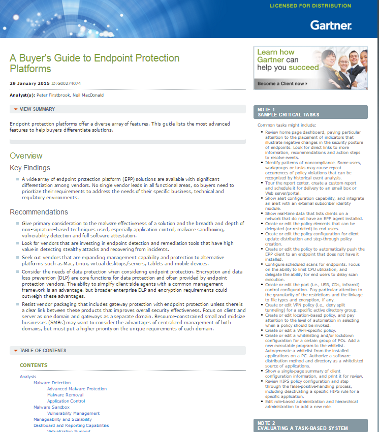 A Buyer's Guide to Endpoint Protection Platforms