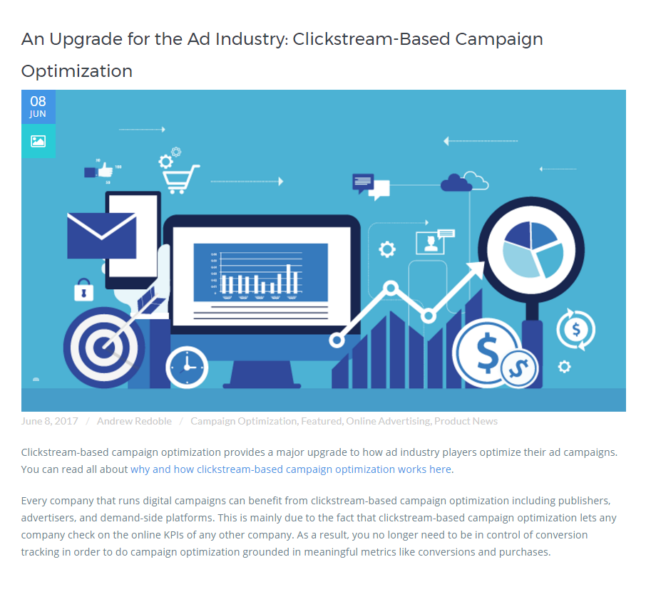 An Upgrade for the Ad Industry: Clickstream-Based Campaign Optimization