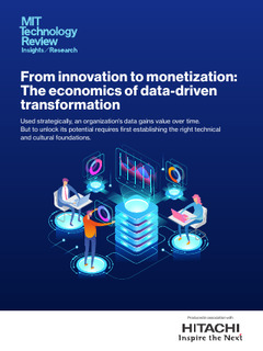 From the Innovation to Monetization: The Economics of Data-Driven Transformation