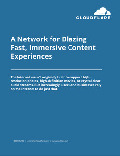 A Network for Blazing Fast, Immersive Content Experiences: Why Performance Matters to Your Media and Entertainment Business