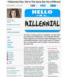Millennial Max: We're The Same But Very Different