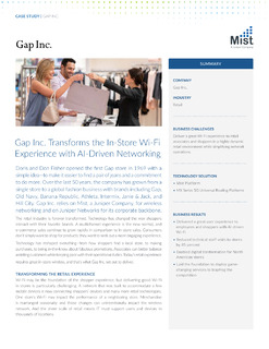 Gap Inc. Transforms In-Store Wi-Fi Experience with AI-Driven Networking