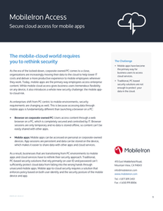 MobileIron Access: Secure Cloud Access for Mobile Apps