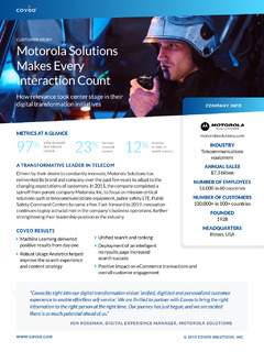 Motorola Solutions Makes Every Interaction Count
