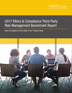 2017 Ethics & Compliance Third Party Risk Management Benchmark Report