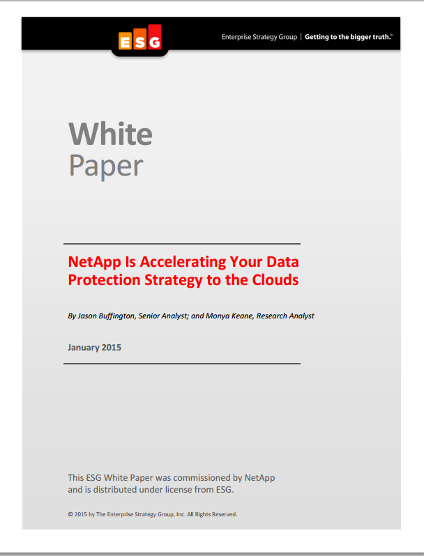 NetApp Is Accelerating Your Data Protection Strategy to the Clouds