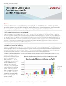 Protecting Large Scale Environments with Veritas NetBackup