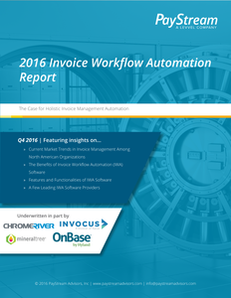2016 Invoice Workflow Automation Report