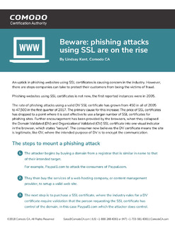 Beware: Phishing Attacks Using SSL Are on the Rise