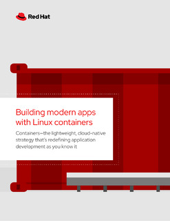 Building Modern Applications with Linux and Contianers