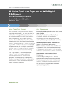 Forrester Report – Optimize Customer Experiences with Digital Intelligence